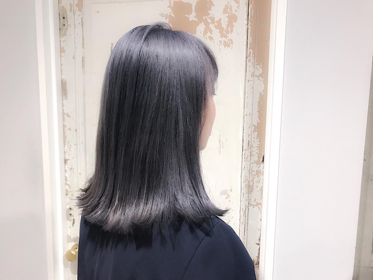 外国人風 ミディアム ハイライト 艶髪 ヘアスタイルや髪型の写真・画像 | 野﨑 小知子 / CACINA TOKYO