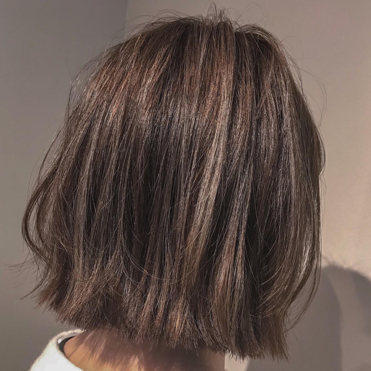 外ハネ アンニュイ ボブ ナチュラル ヘアスタイルや髪型の写真・画像