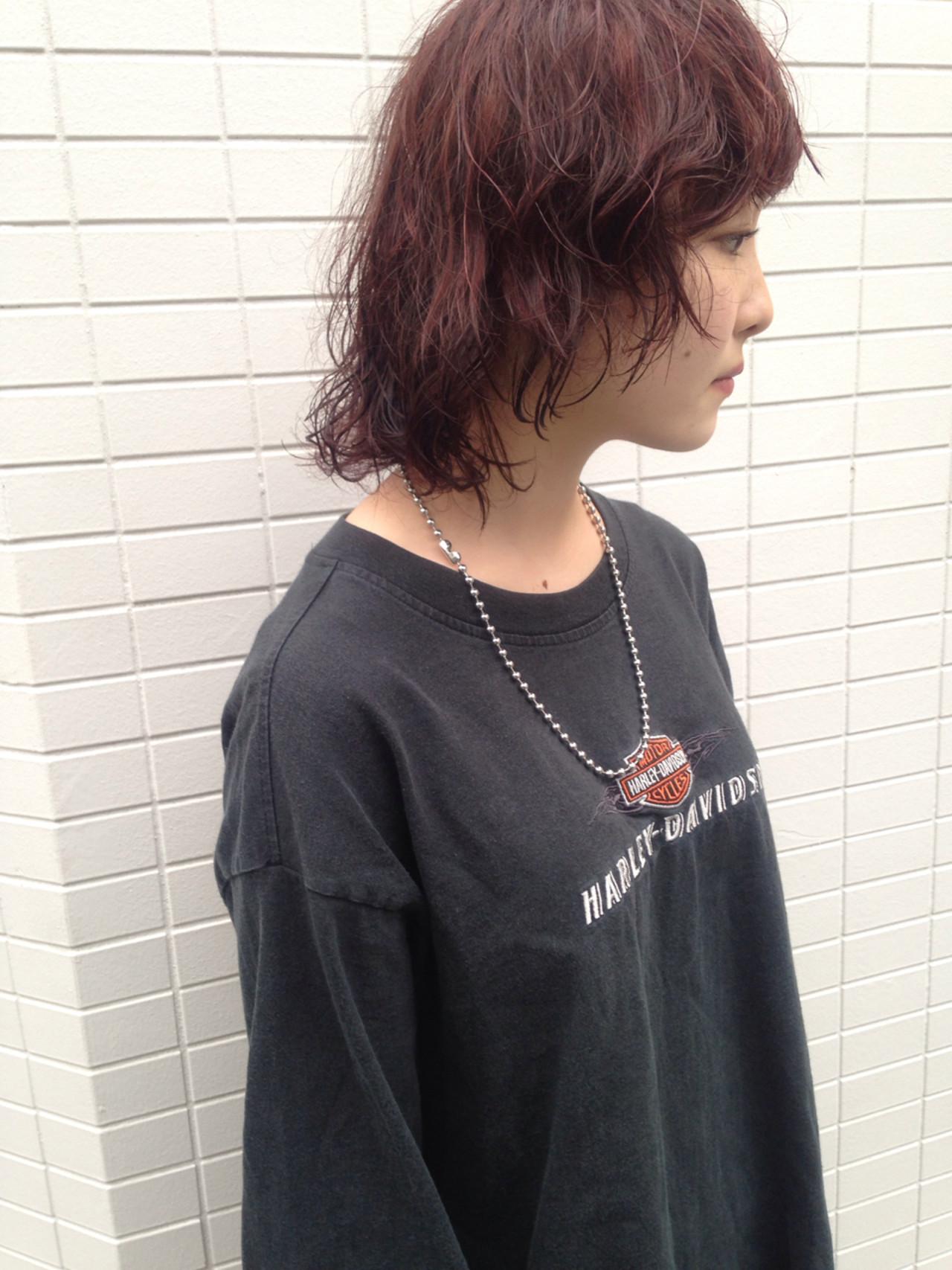 ストリート 色気 ウルフカット マッシュ ヘアスタイルや髪型の写真・画像