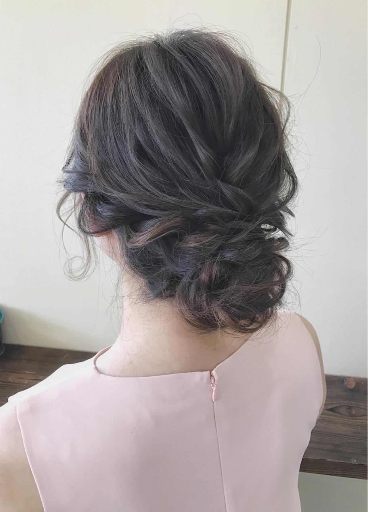 フェミニン セミロング 黒髪 結婚式 Seamu サワ 294831 Hair