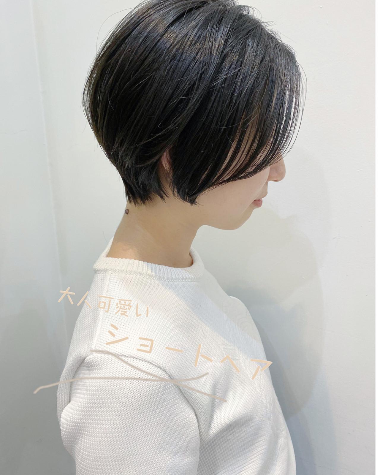 大人かわいい ショートボブ ベリーショート ショート ヘアスタイルや髪型の写真・画像