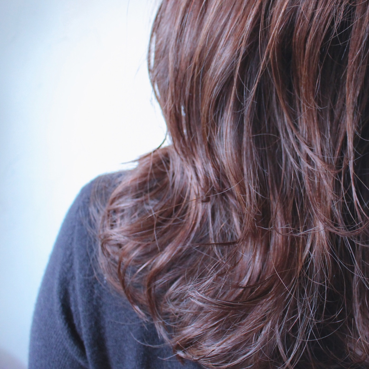 ゆるふわ パーマ セミロング 外国人風 ヘアスタイルや髪型の写真・画像