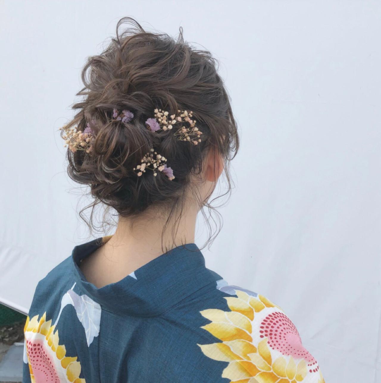 涼しげ ヘアアレンジ ナチュラル デート ヘアスタイルや髪型の写真・画像