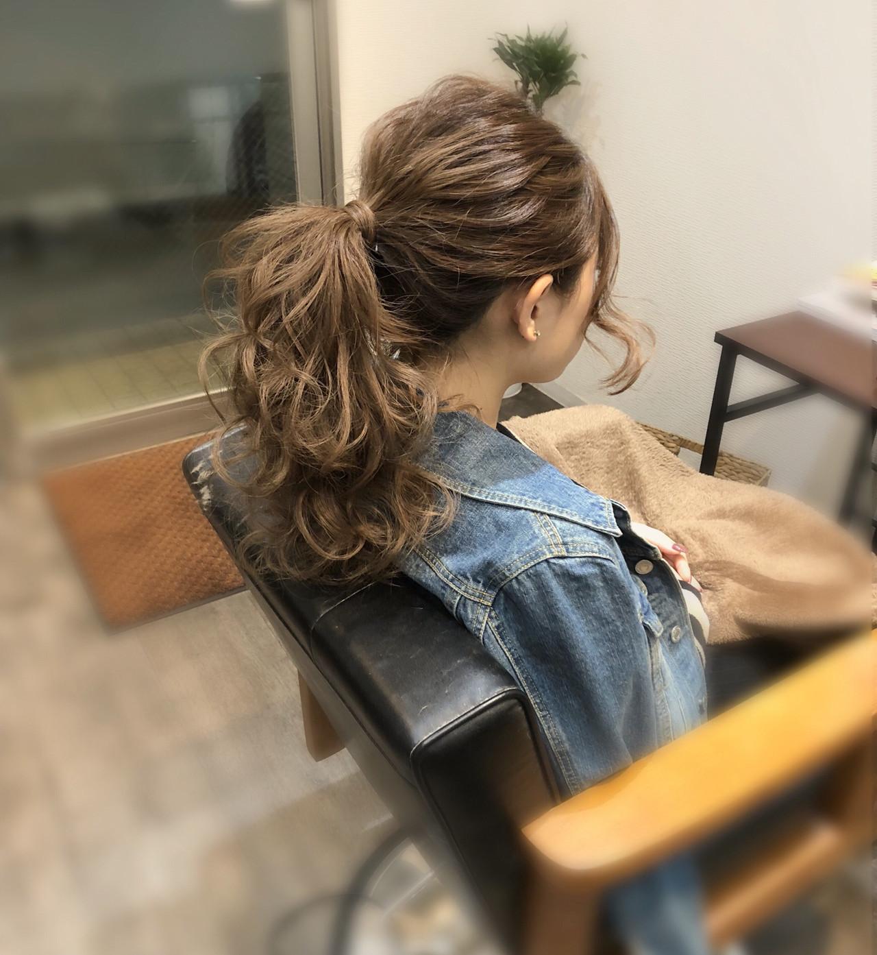ヘアアレンジ アップスタイル フェミニン ポニーテールアレンジ ヘアスタイルや髪型の写真・画像 | mai / HAIR SALON STELLA