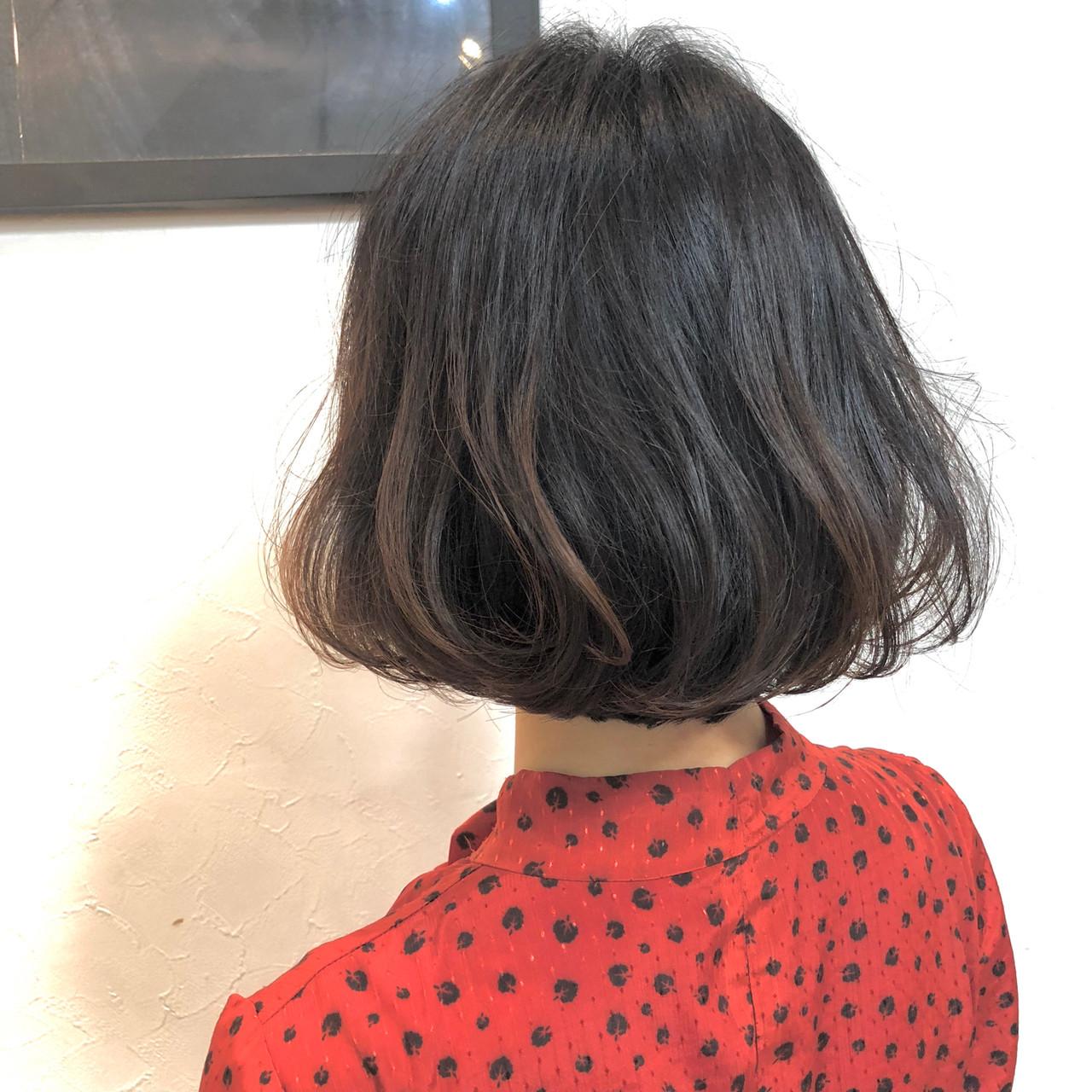 ボブ 簡単ヘアアレンジ フェミニン アンニュイほつれヘア ヘアスタイルや髪型の写真・画像