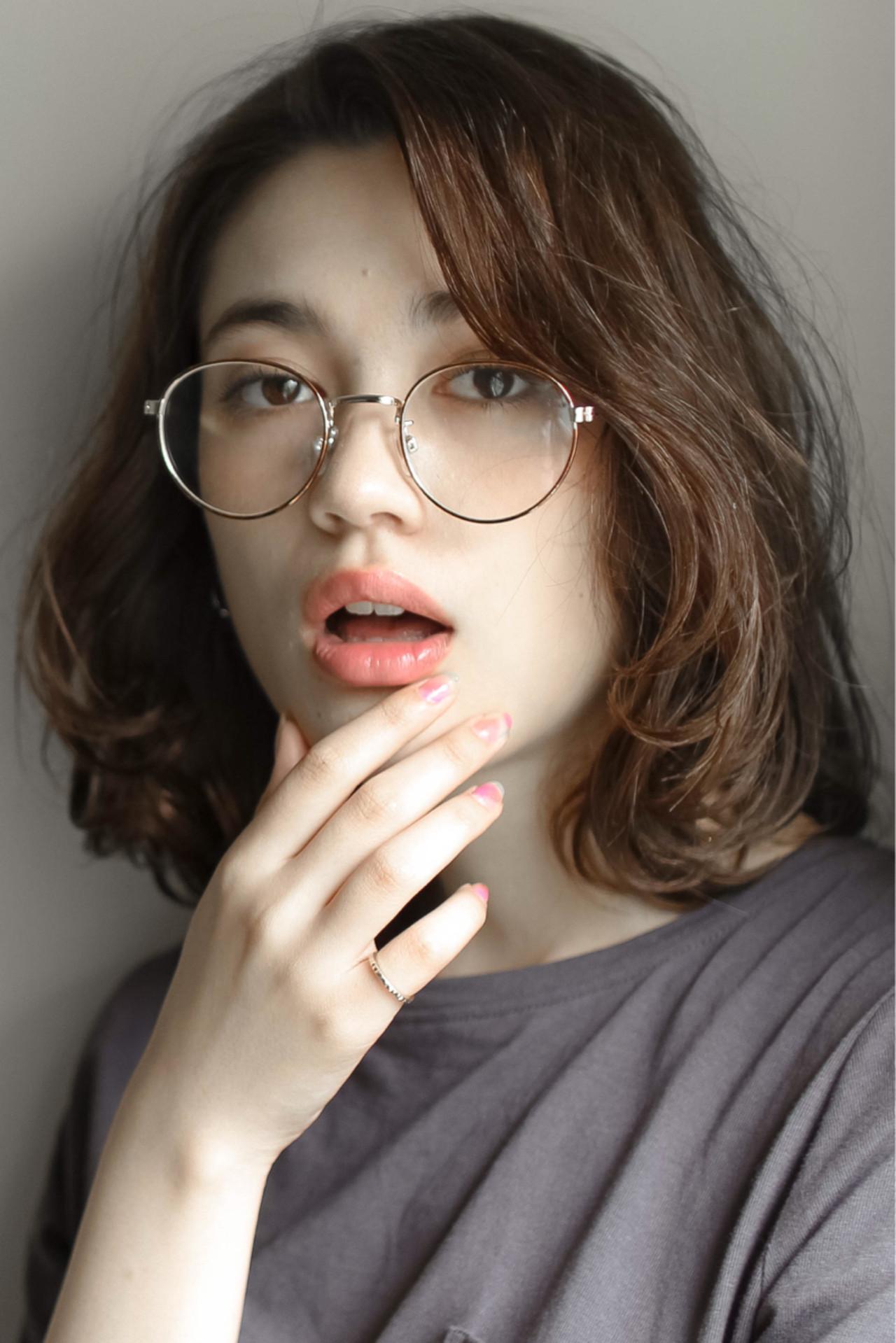 前髪あり パーマ ストリート ボブ ヘアスタイルや髪型の写真・画像 | 亀田匡寿 / ELICA
