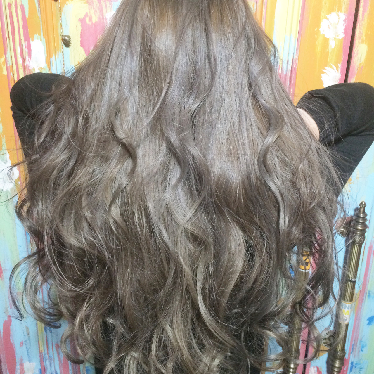 外国人風 ガーリー グラデーションカラー アッシュ ヘアスタイルや髪型の写真・画像 | tatsuzo / AWAY123125