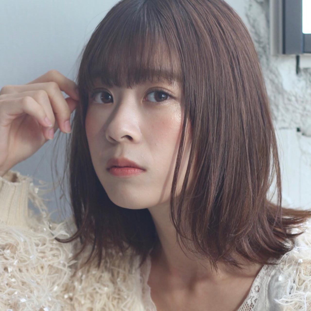 アンニュイほつれヘア ヘアアレンジ ミディアム ナチュラル ヘアスタイルや髪型の写真・画像