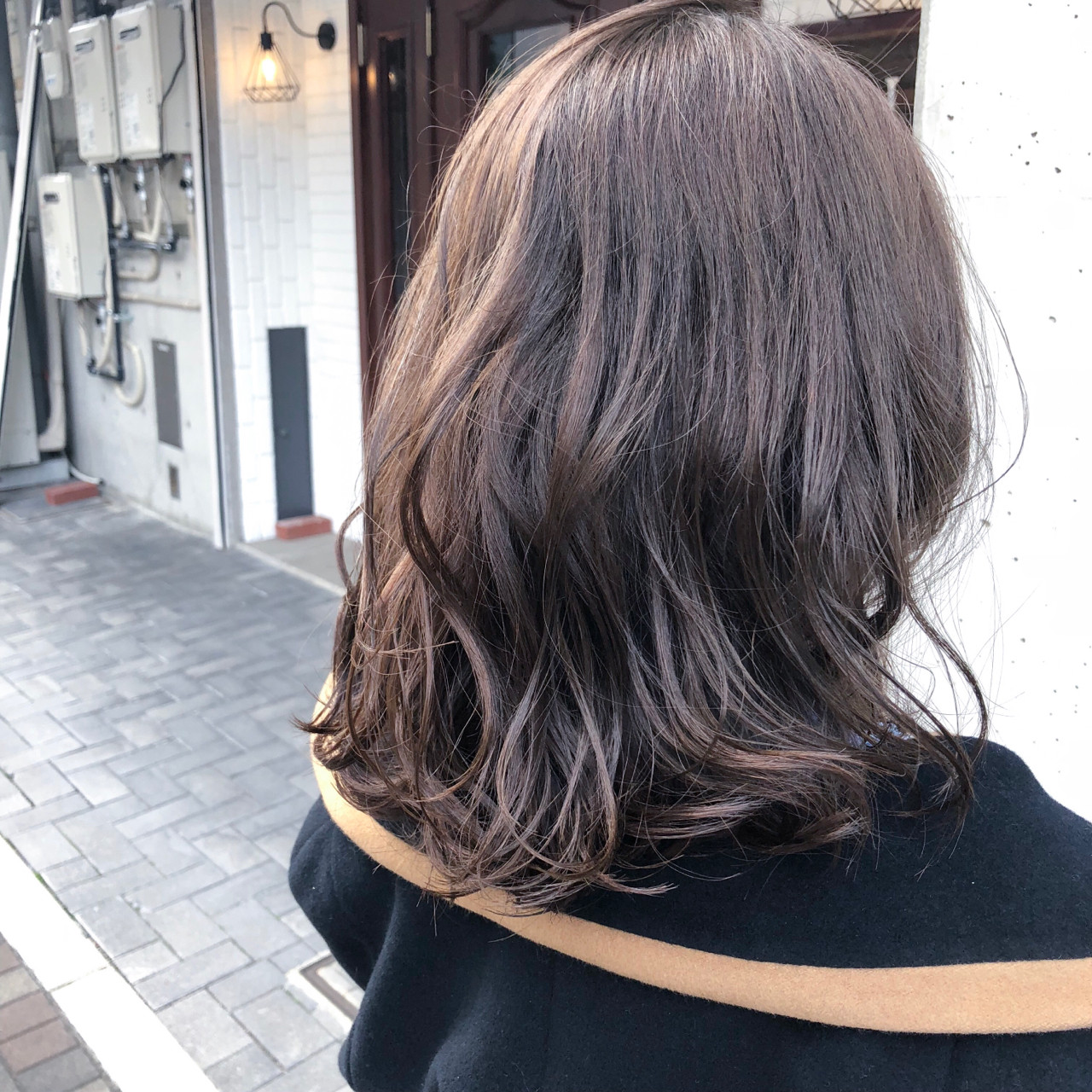 ナチュラル グレージュ 外国人風カラー デート ヘアスタイルや髪型の写真・画像