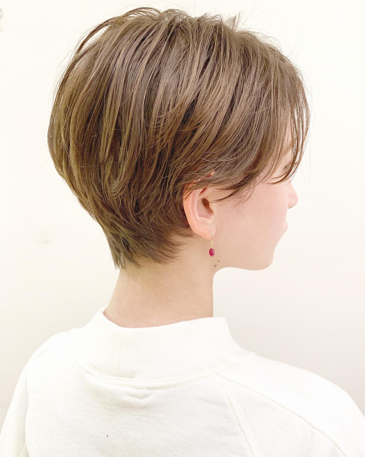 パーマ ショート フェミニン スポーツ ヘアスタイルや髪型の写真・画像   ショートヘア美容師 #ナカイヒロキ / 『send by HAIR』