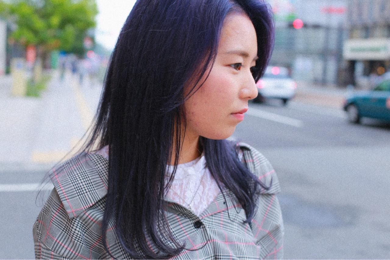 ストリート ダブルカラー ミディアム グラデーションカラー ヘアスタイルや髪型の写真・画像