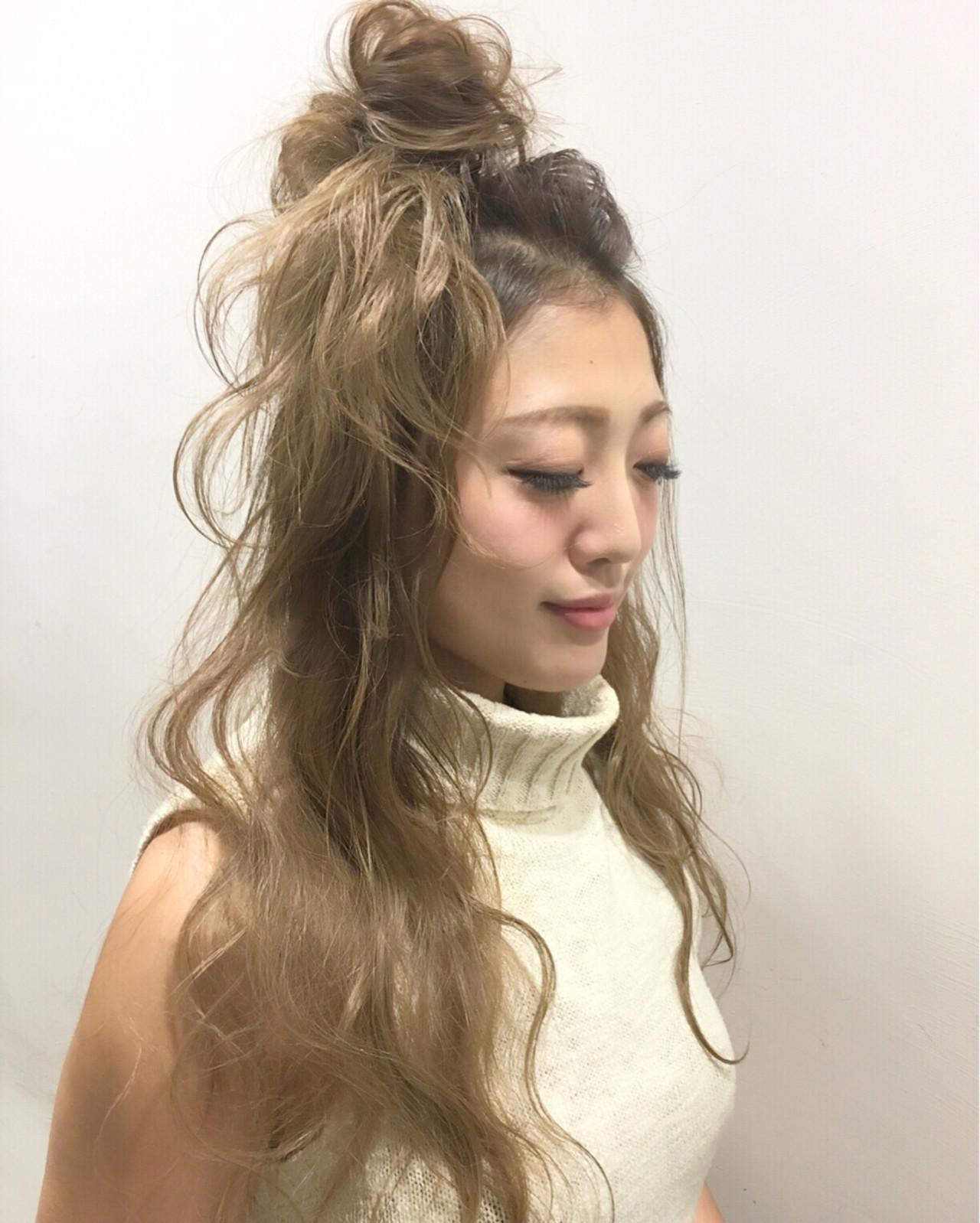 ロング グラデーションカラー ショート ハーフアップ ヘアスタイルや髪型の写真・画像 | 斧江 和也 / ROOTS IRIE