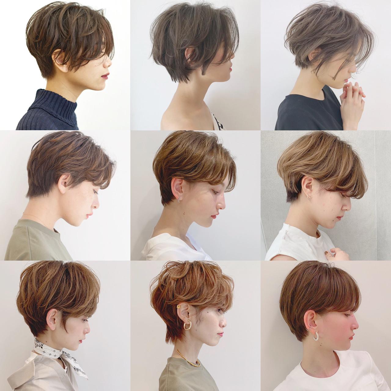 パーマ アウトドア オフィス デート ヘアスタイルや髪型の写真・画像   ショートヘア美容師 #ナカイヒロキ / 『send by HAIR』