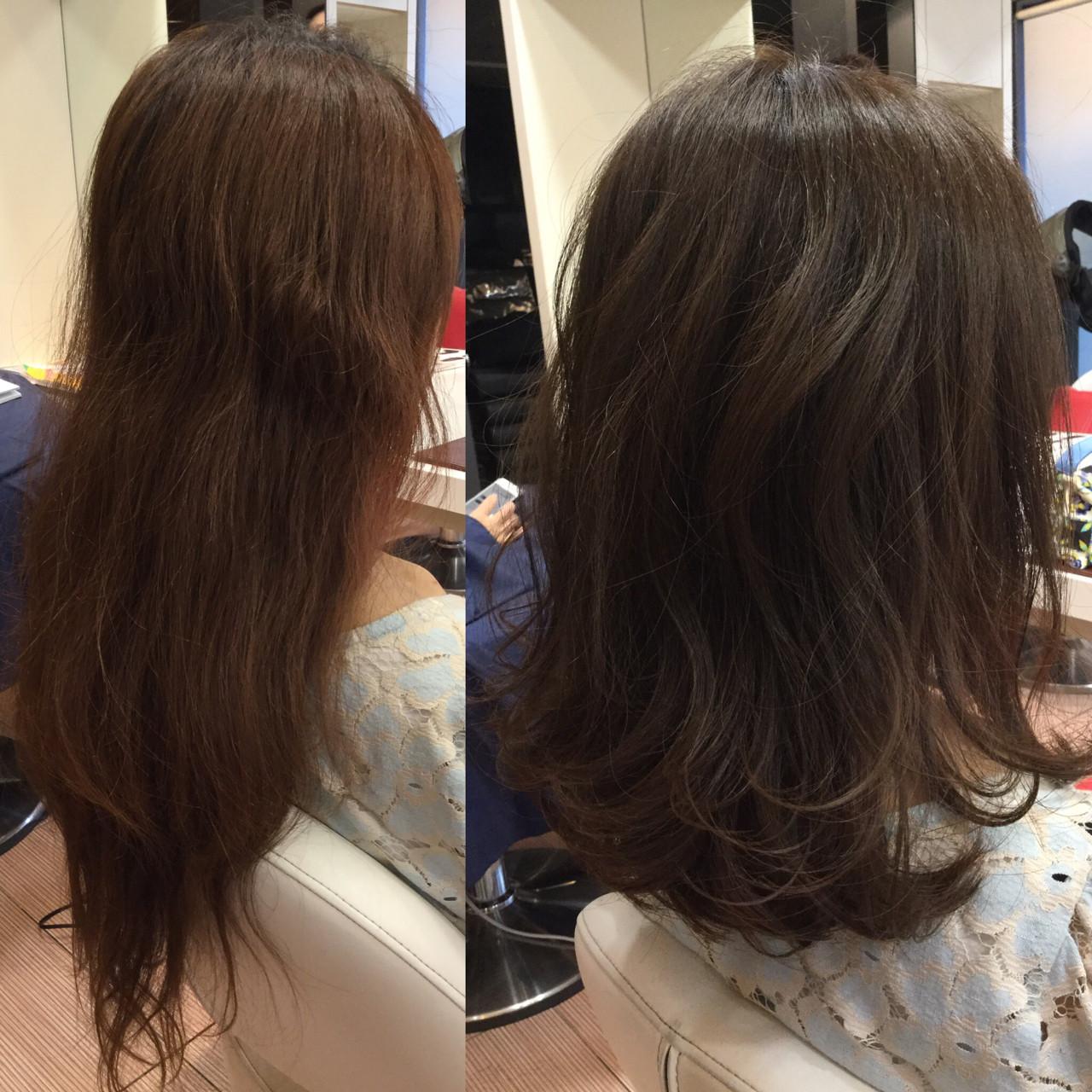 雨の日 アンニュイ リラックス ミディアム ヘアスタイルや髪型の写真・画像