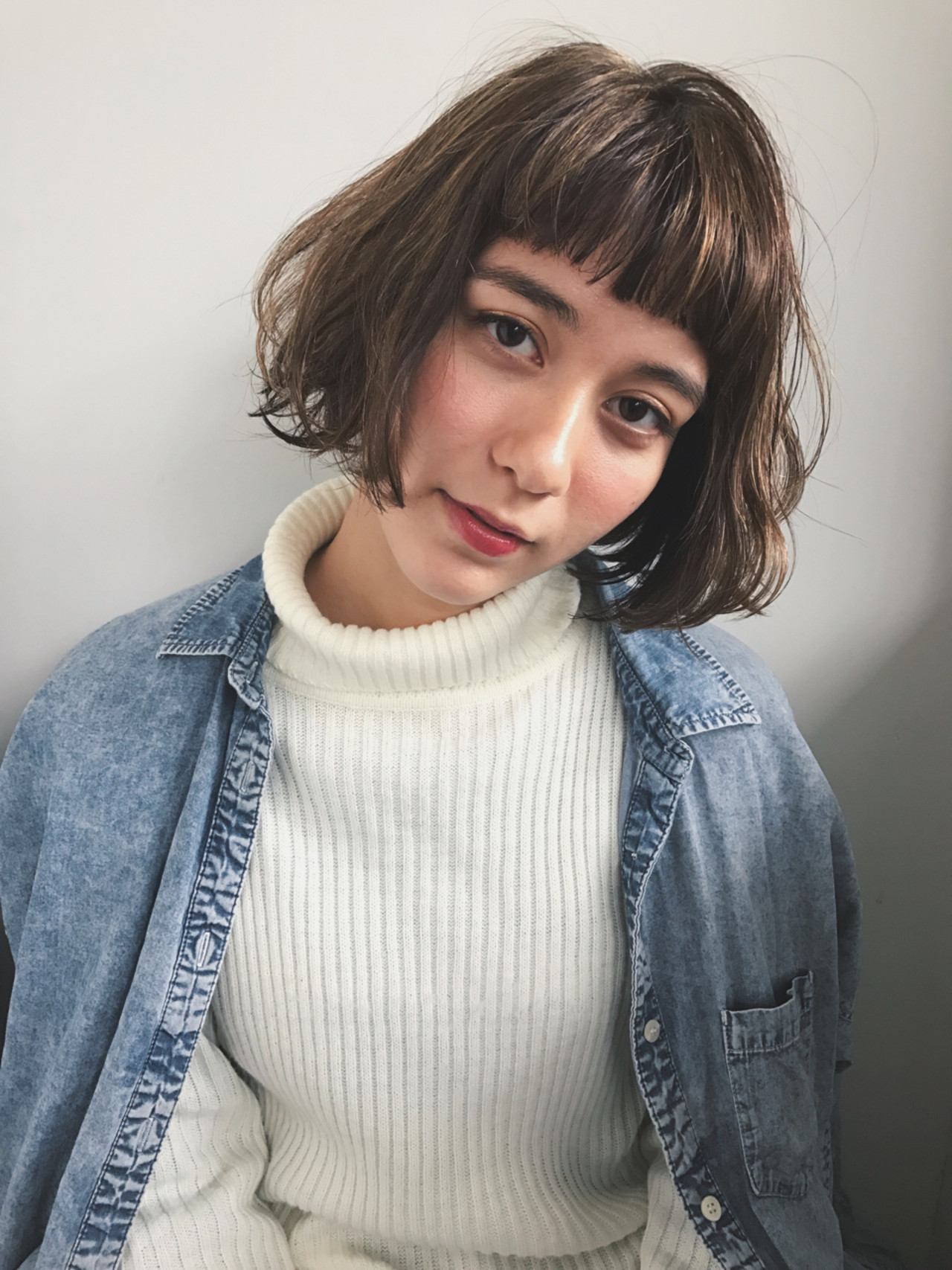 前髪あり パーマ ナチュラル ボブ ヘアスタイルや髪型の写真・画像 | Natsuko Kodama 児玉奈都子 / dydi