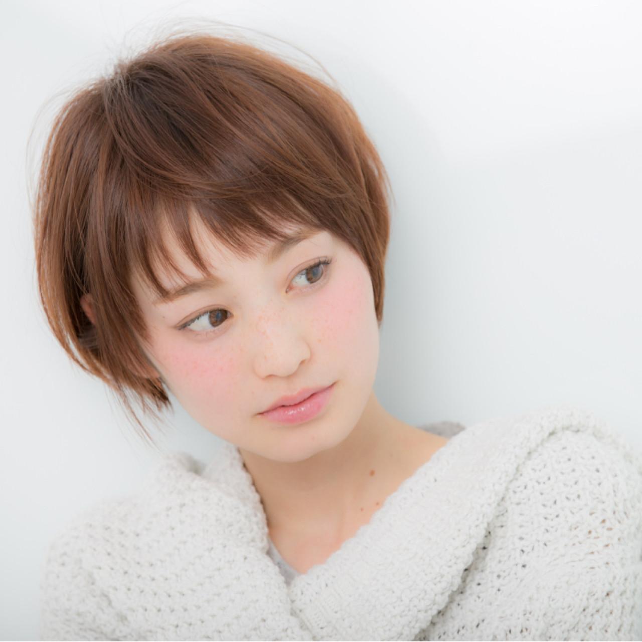 ショート 前髪あり 小顔 大人女子 ヘアスタイルや髪型の写真・画像 | 土田 哲也 / Euphoria【ユーフォリア】SHIBUYA GRANDE