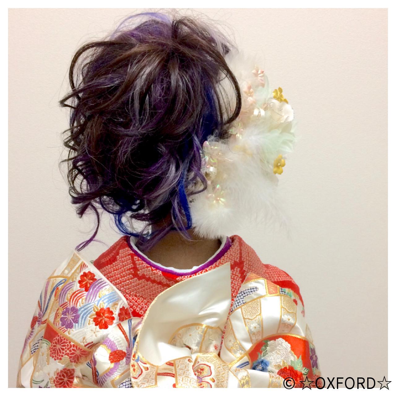 ロング 振袖 ガーリー アップスタイル ヘアスタイルや髪型の写真・画像 | ☆oxford☆ / OXFORD (オックスフォード)