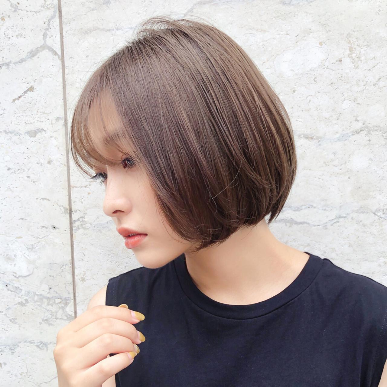 大人かわいい ボブ ナチュラル パーマ ヘアスタイルや髪型の写真・画像 | 趙 英来 (よん) / nex