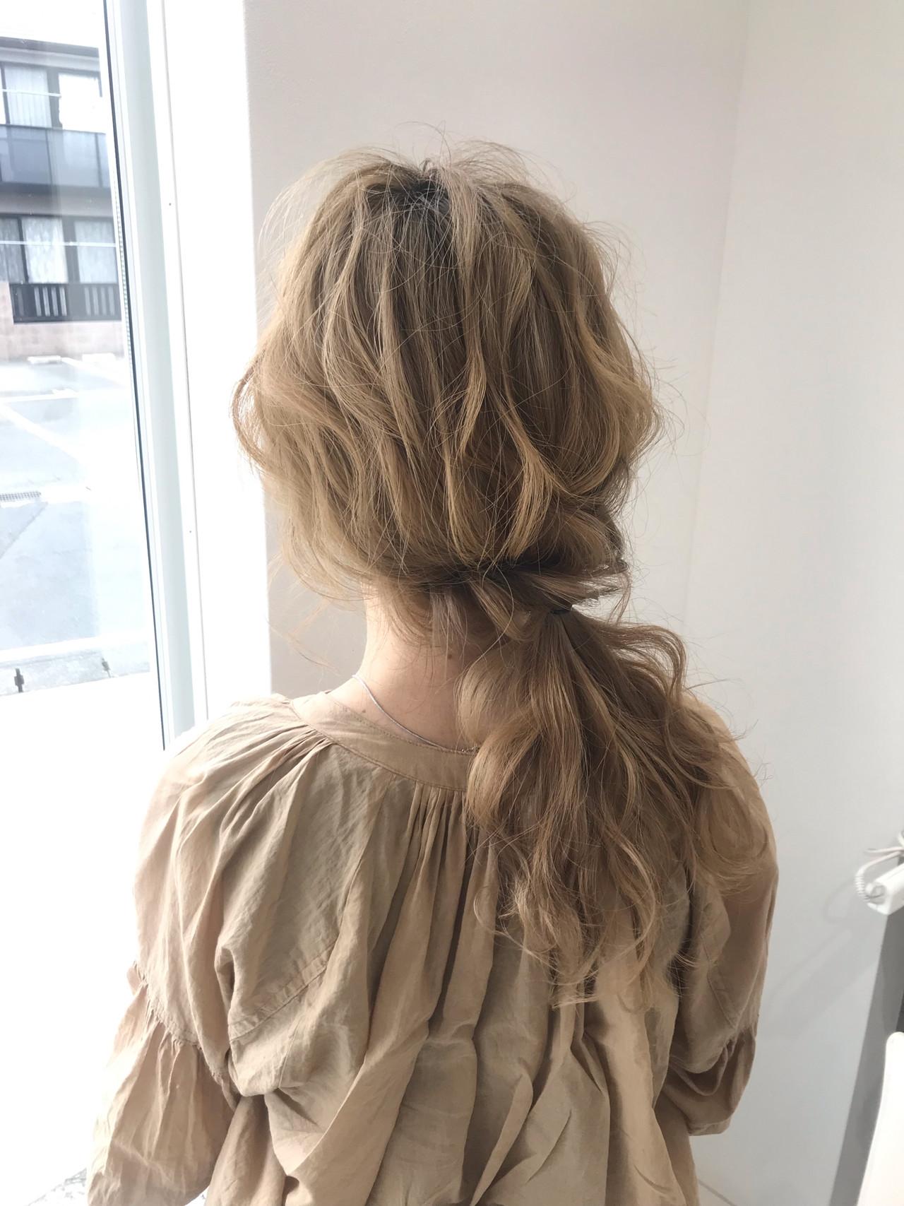 ミディアム 結婚式 デート 簡単ヘアアレンジ ヘアスタイルや髪型の写真・画像