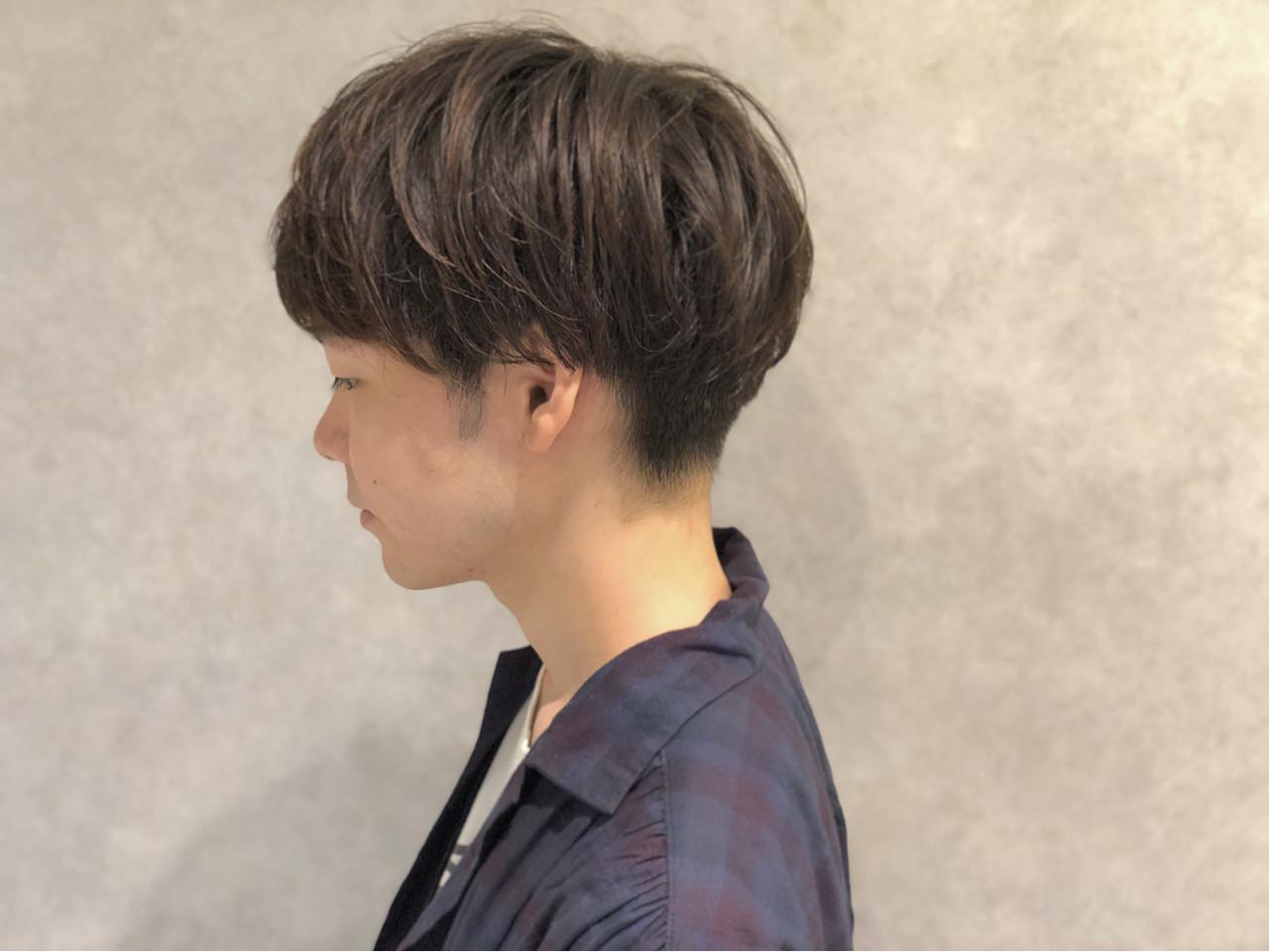パーマ モテ髪 ショート マッシュ ヘアスタイルや髪型の写真・画像