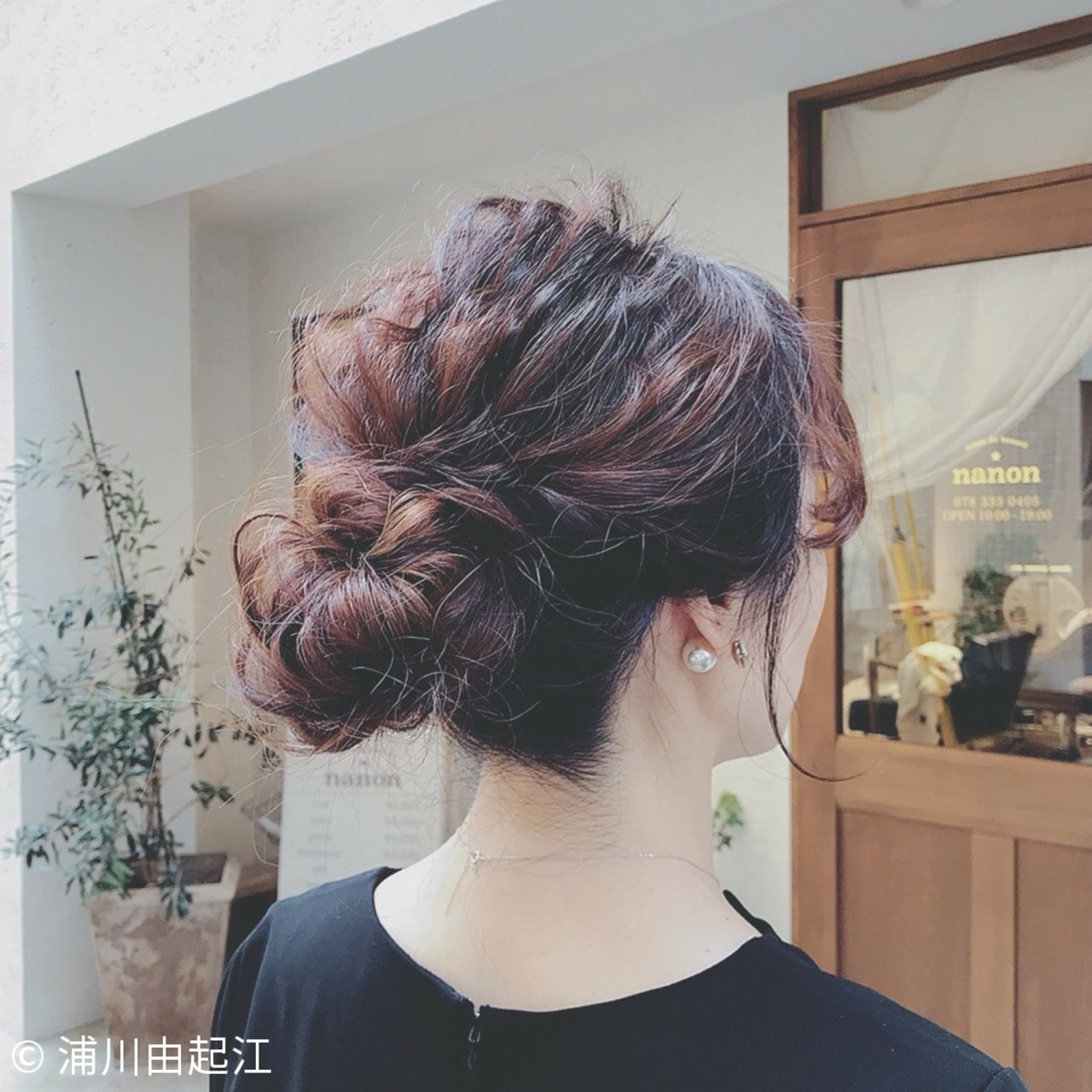 ゆるふわ 結婚式 デート エレガント ヘアスタイルや髪型の写真・画像 | 浦川由起江 / nanon