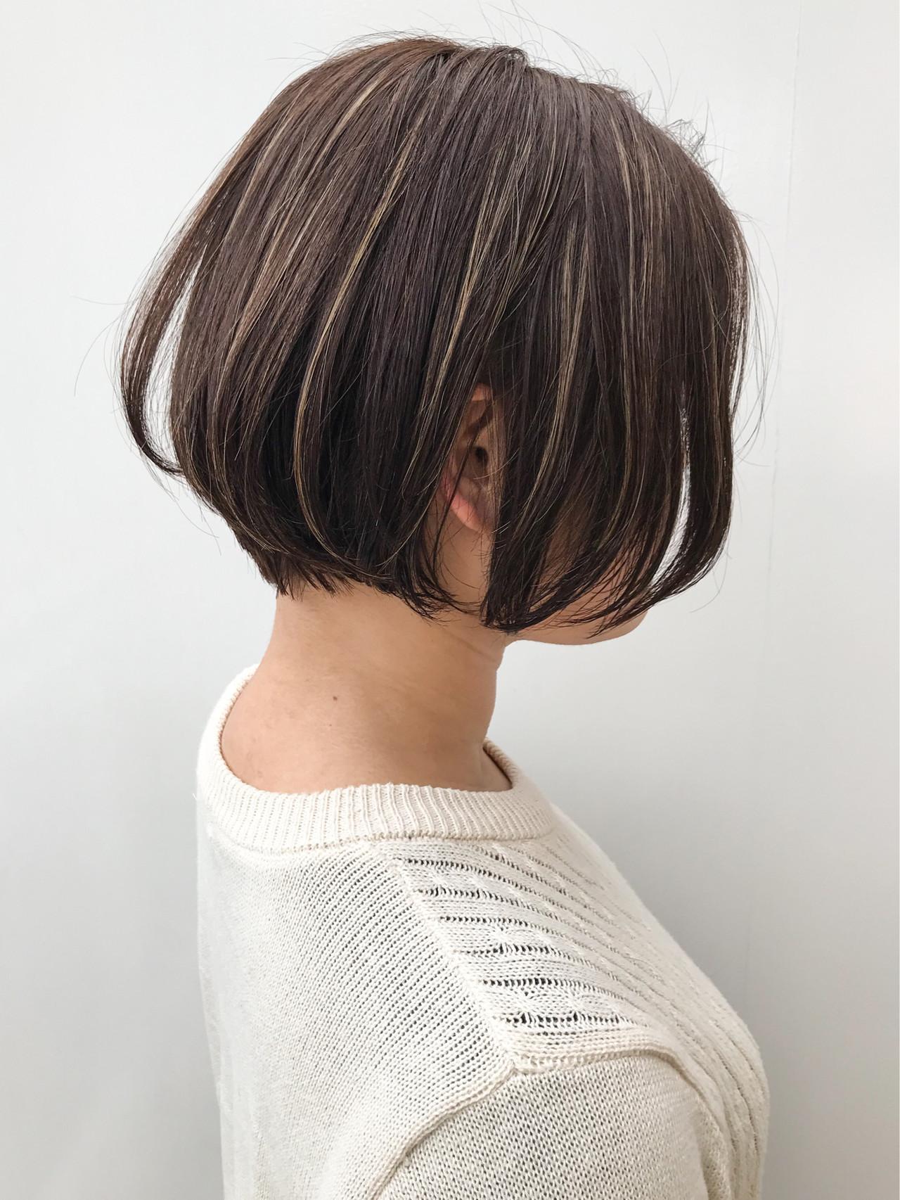 コンサバ ナチュラル ボブ 大人女子 ヘアスタイルや髪型の写真・画像