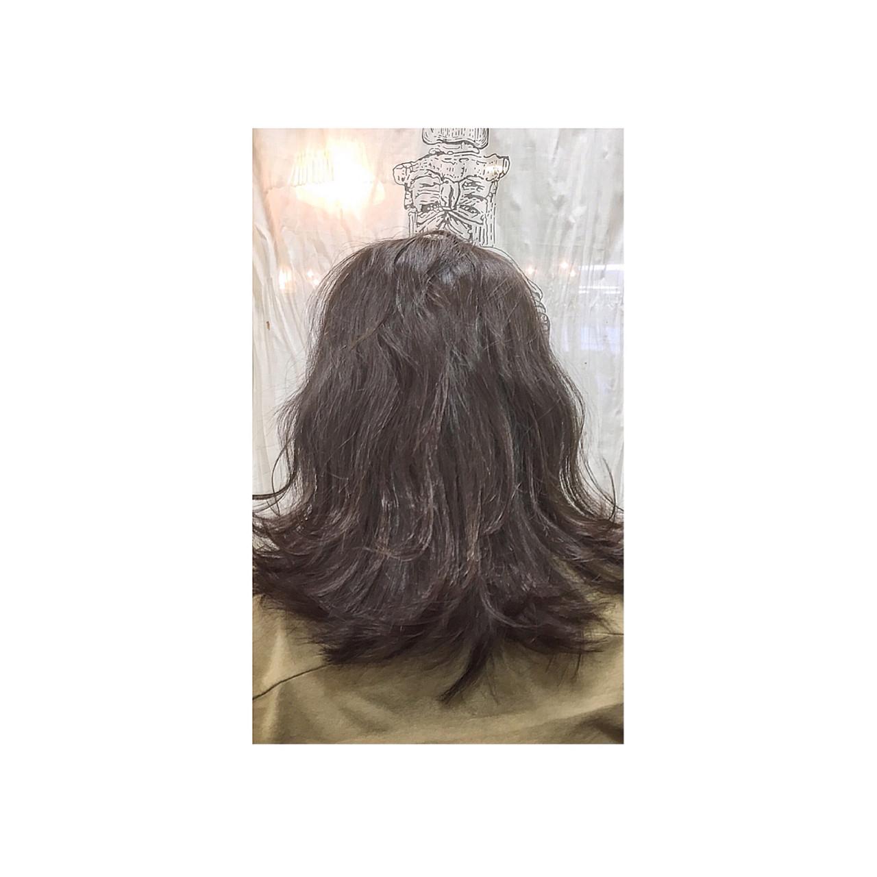 外国人風 ミディアム ボブ アッシュ ヘアスタイルや髪型の写真・画像