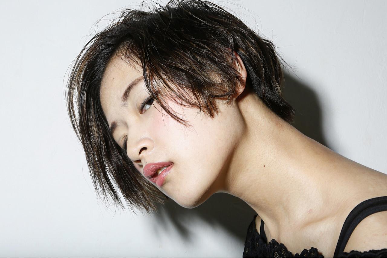前髪あり 大人かわいい モード 外国人風 ヘアスタイルや髪型の写真・画像 | 清水桃子 / ミルクブッシュ / ミルクブッシュ