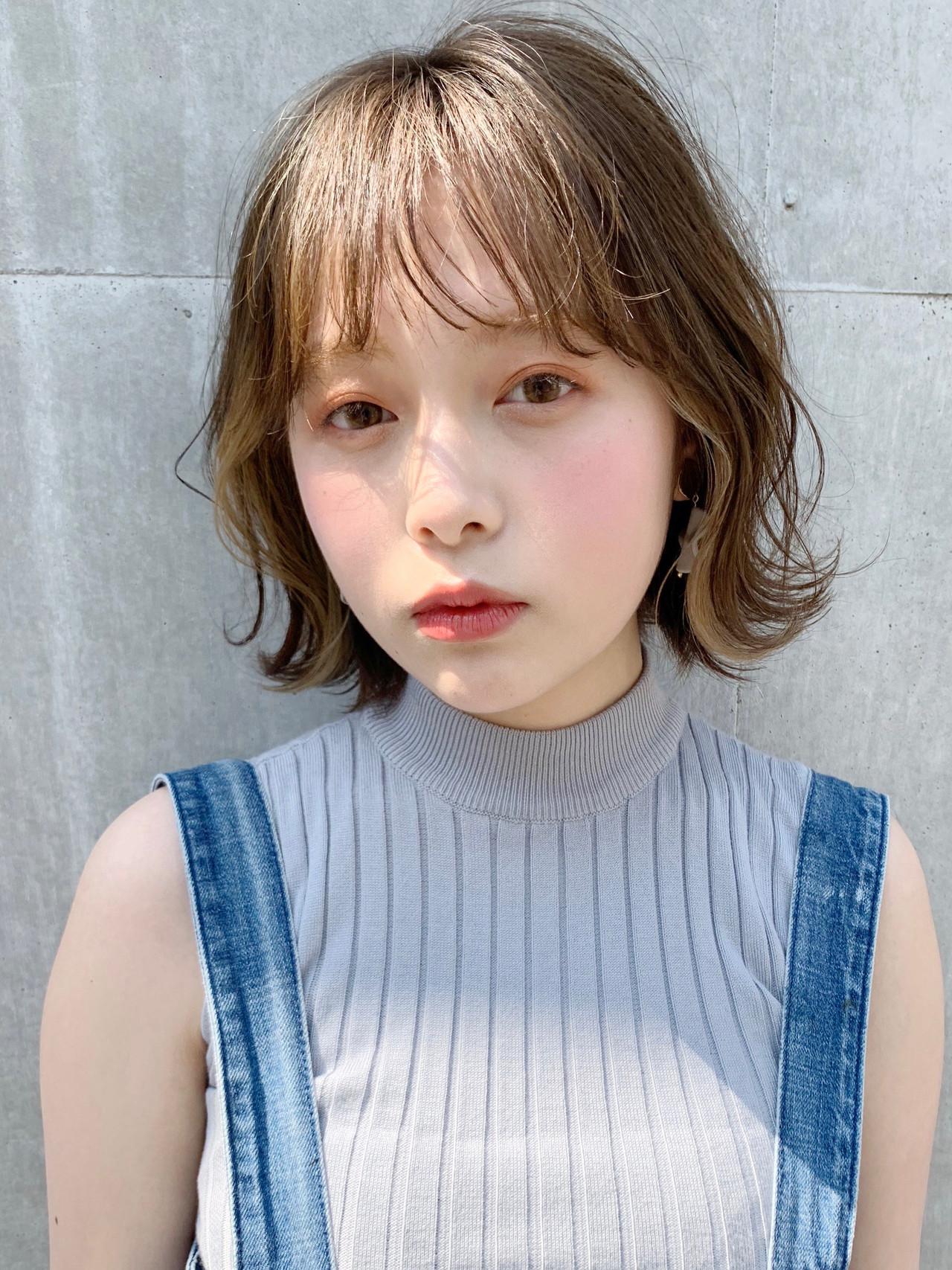 ミニボブ ショートボブ ボブ インナーカラー ヘアスタイルや髪型の写真・画像 | Natsuko Kodama 児玉奈都子 / dydi
