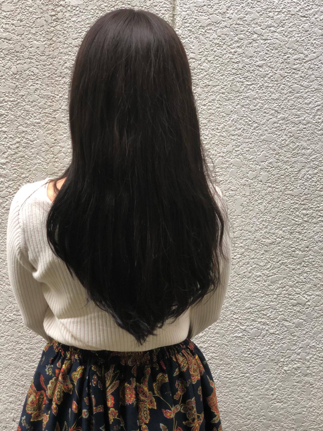 ナチュラル ダークアッシュ 暗髪 ウェーブ ヘアスタイルや髪型の写真・画像 | Akira Koikeda / earth 北小金