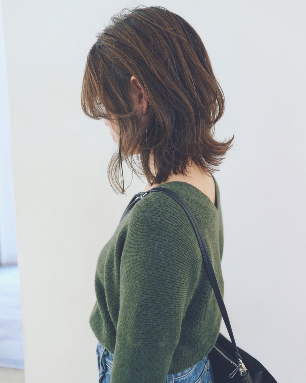 レイヤーカット フェミニン ボブ マッシュ ヘアスタイルや髪型の写真・画像