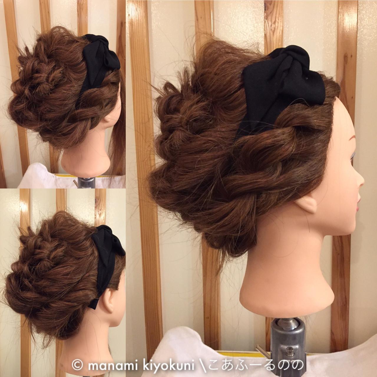 パーティ ヘアアレンジ 大人かわいい アップスタイル ヘアスタイルや髪型の写真・画像 | manami iwamoto \こあふーるのの / こあふーるのの