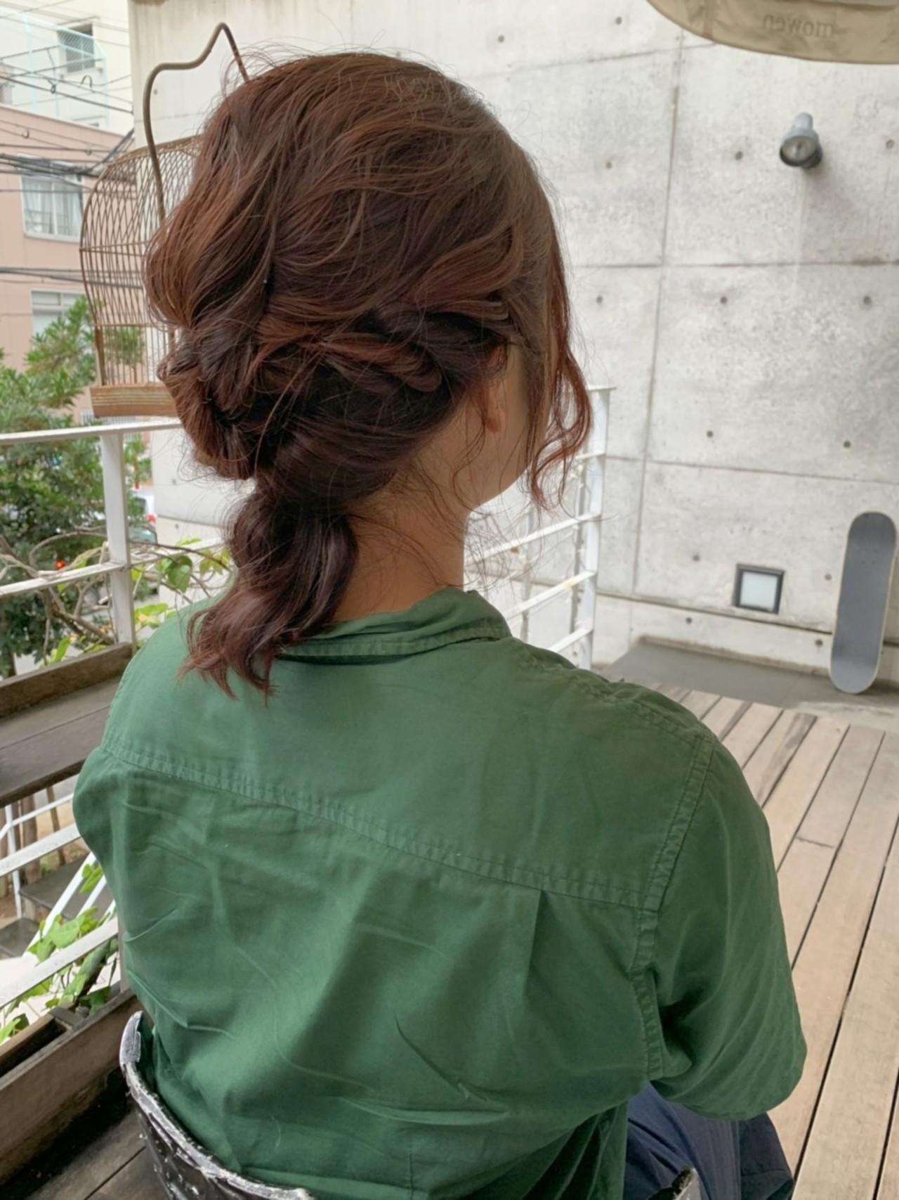 波ウェーブ フェミニン ピンクベージュ ピンクブラウン ヘアスタイルや髪型の写真・画像