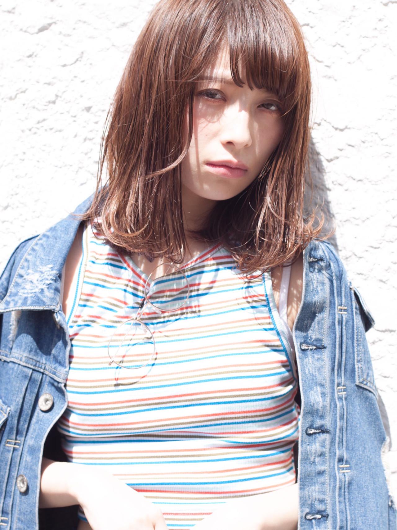 愛され ストリート 外国人風 ミディアム ヘアスタイルや髪型の写真・画像 | 日野 達也 / GO TODAY  SHAiRE SALON