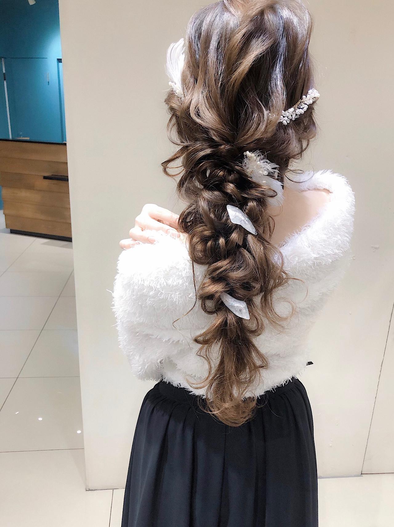 ヘアアレンジ 大人かわいい デート 結婚式 ヘアスタイルや髪型の写真・画像 | 平川 元気 / MAPUNA