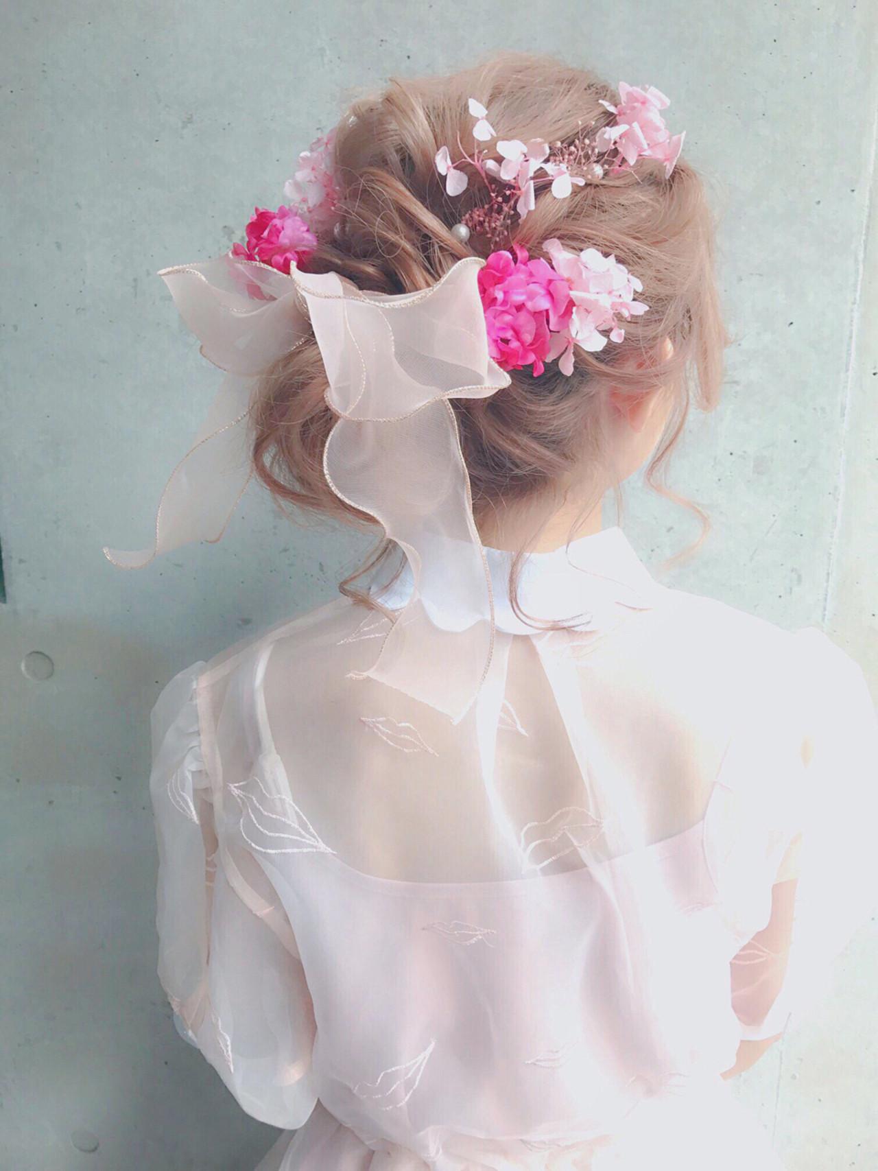 ミディアム ハーフアップ ゆるふわ ヘアアレンジ ヘアスタイルや髪型の写真・画像 | MOTAI / Wille / Wille