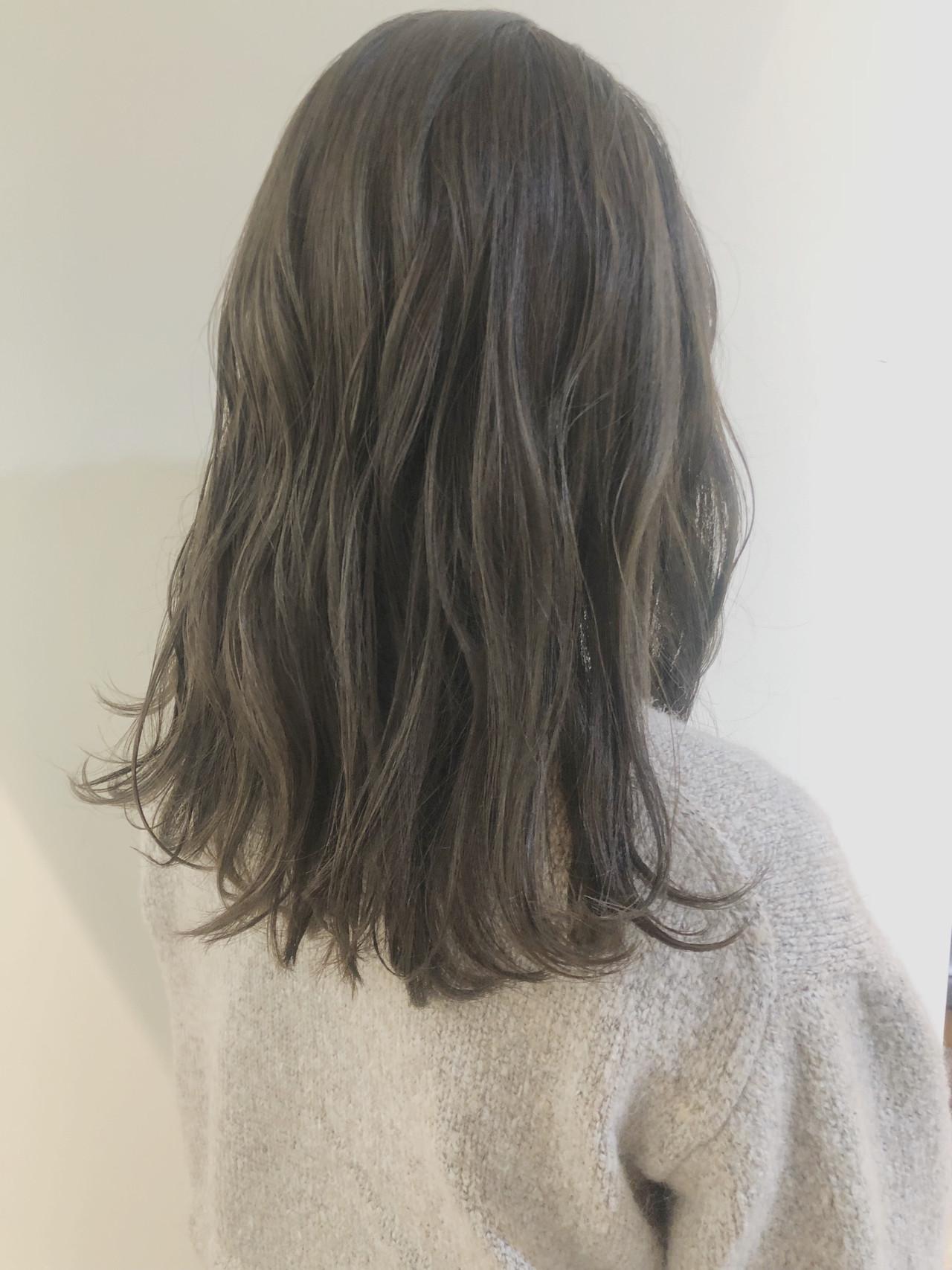 ヘアアレンジ セミロング 大人かわいい アンニュイほつれヘア ヘアスタイルや髪型の写真・画像 | 中島 潮里 / whyte / whyte
