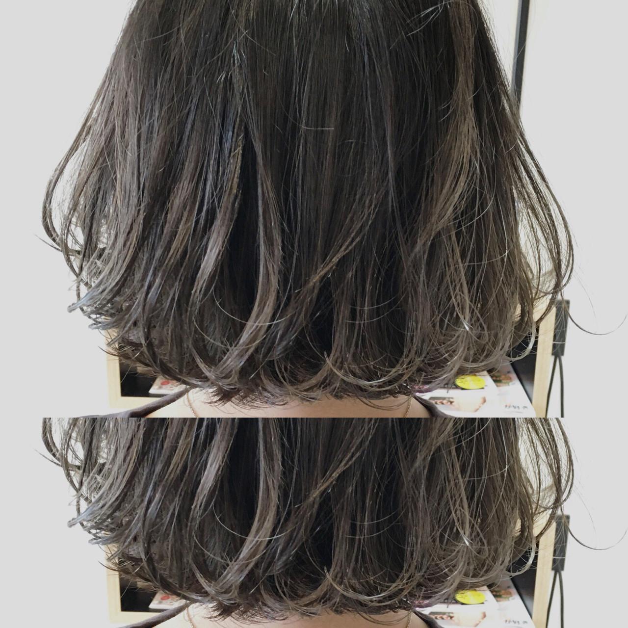 グレージュ ストリート グラデーションカラー ボブ ヘアスタイルや髪型の写真・画像 | 鳥越 ありさ / hair…nail  TLABeS