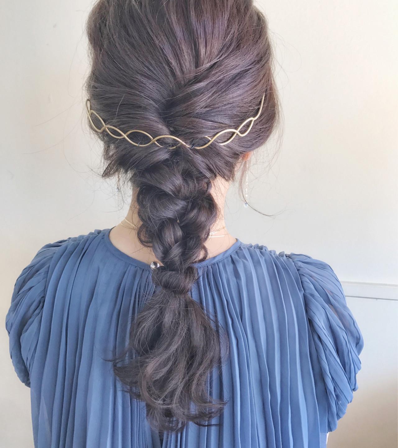色気 結婚式 ヘアアレンジ 涼しげ ヘアスタイルや髪型の写真・画像   サワ / Seamu