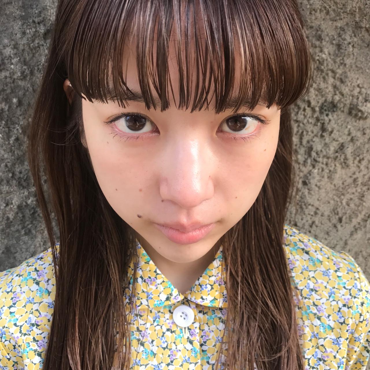 ロング フェミニン ハイライト デート ヘアスタイルや髪型の写真・画像