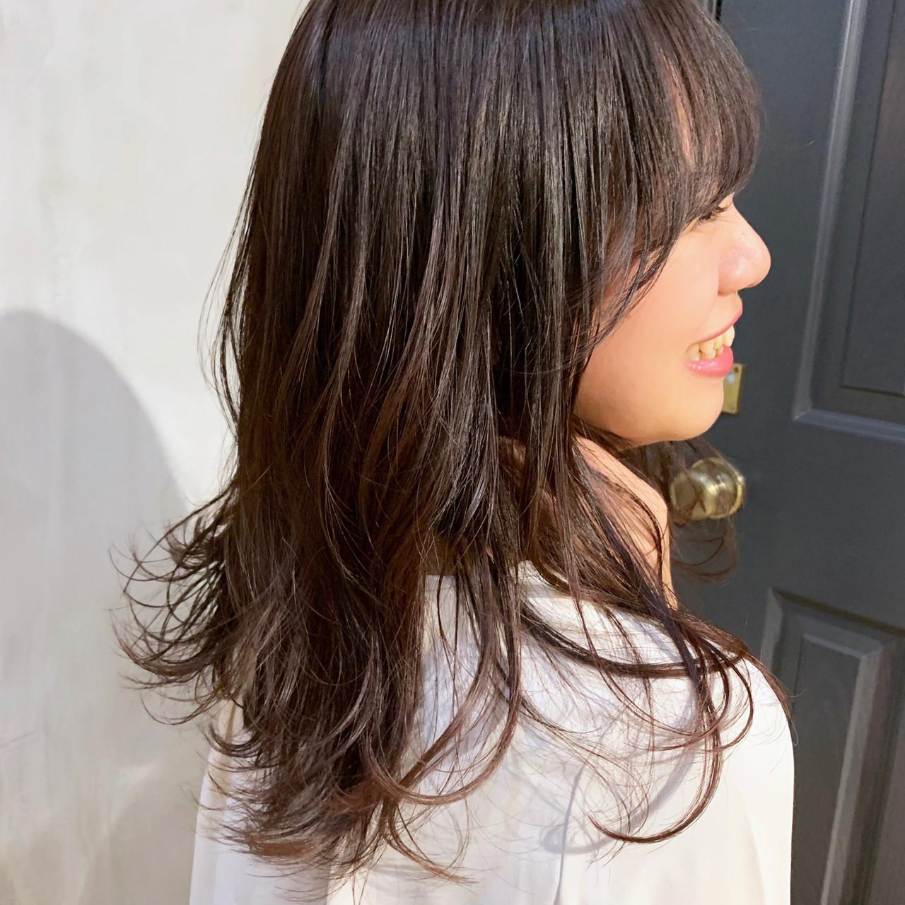 オフィス セミロング 大人かわいい 大人ヘアスタイル ヘアスタイルや髪型の写真・画像