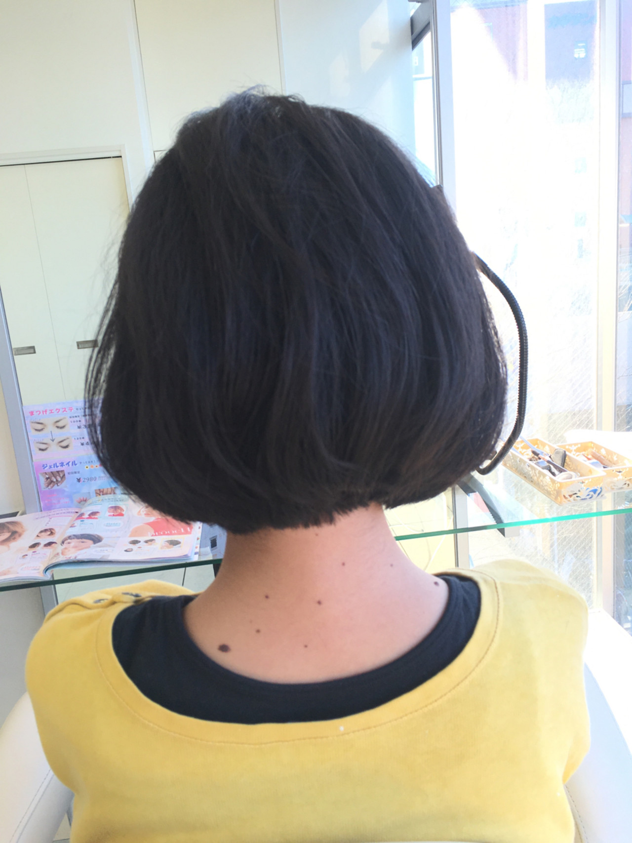 小顔 色気 ガーリー ショートボブ ヘアスタイルや髪型の写真・画像
