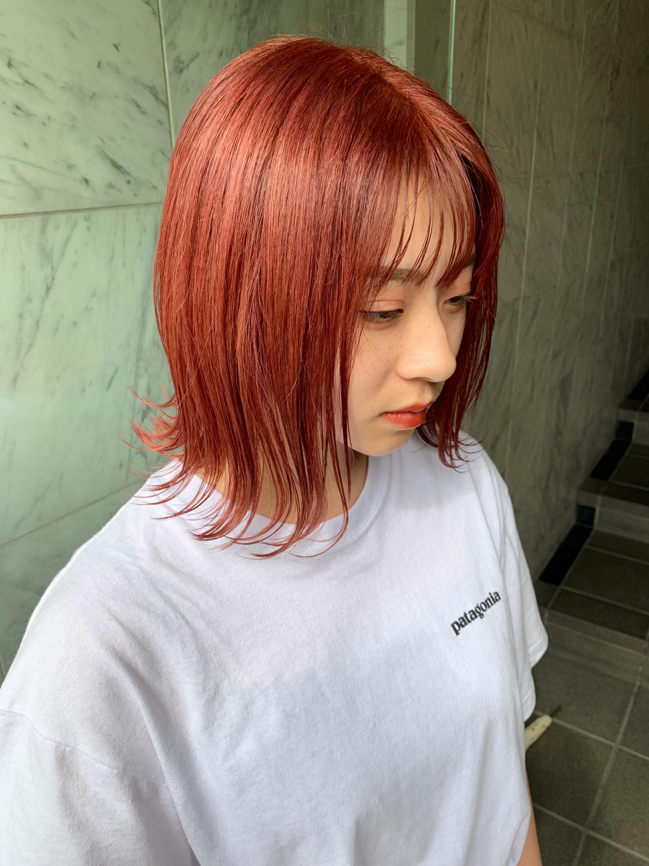 インナーカラー イルミナカラー ヘアカラー ハイライト ヘアスタイルや髪型の写真・画像 | yoshiki / float 天神橋
