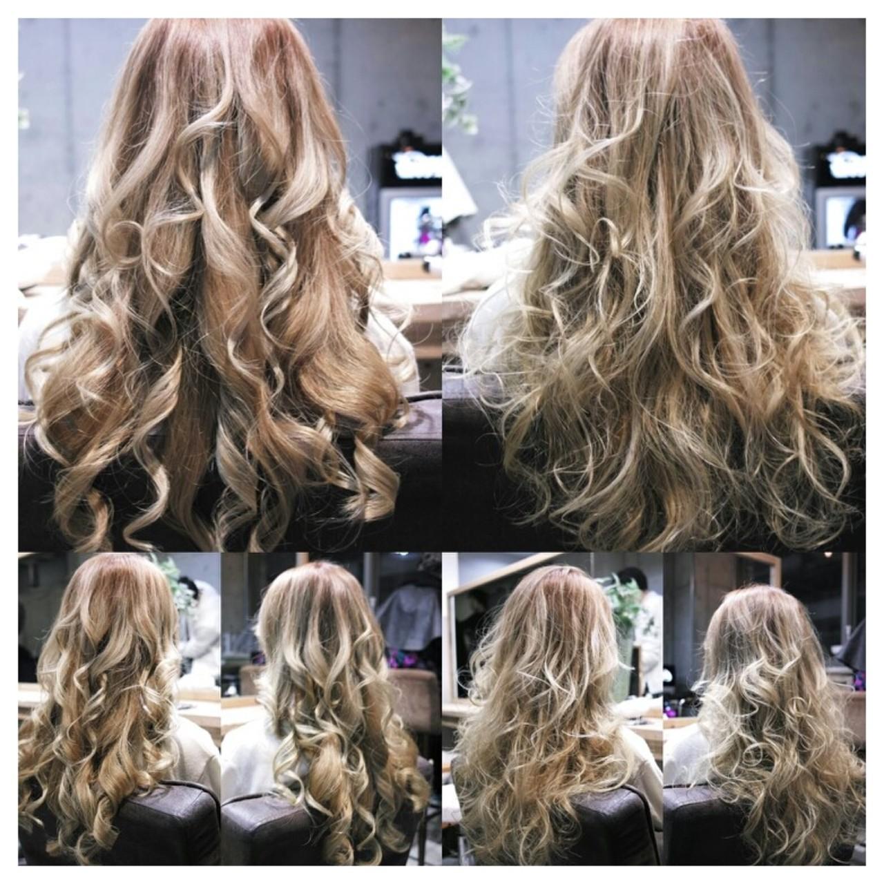 ロング 外国人風 大人女子 グラデーションカラー ヘアスタイルや髪型の写真・画像