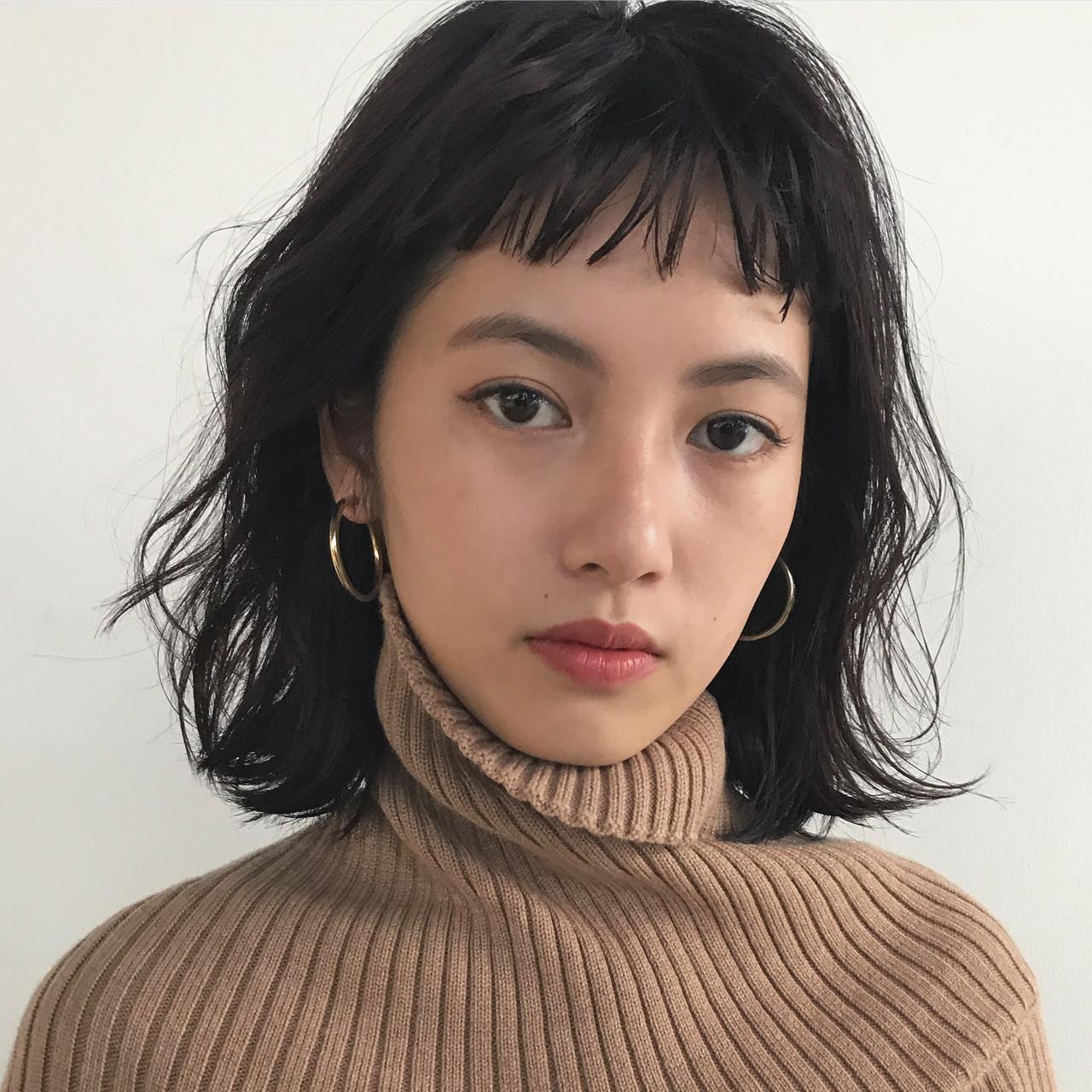 ゆるふわ ナチュラル ミディアム ウェーブ ヘアスタイルや髪型の写真・画像 | 高橋 忍 / nanuk渋谷店(ナヌーク)