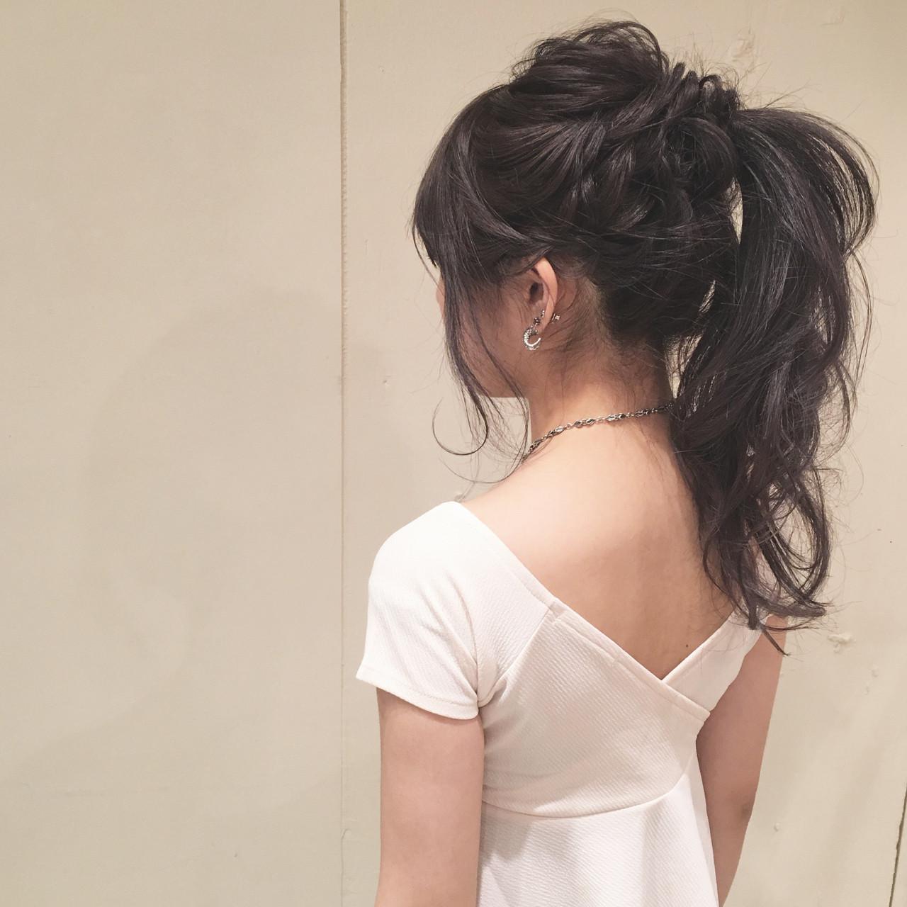 ポニーテール ナチュラル ヘアアレンジ ロング ヘアスタイルや髪型の写真・画像