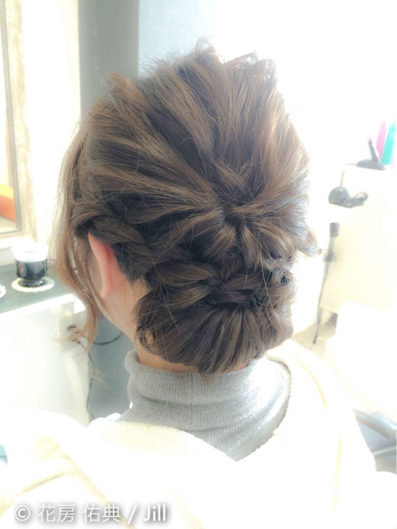 コンサバ くるりんぱ ねじり 波ウェーブ ヘアスタイルや髪型の写真・画像 | 花房 佑典 / Jill / Hair Design Jill