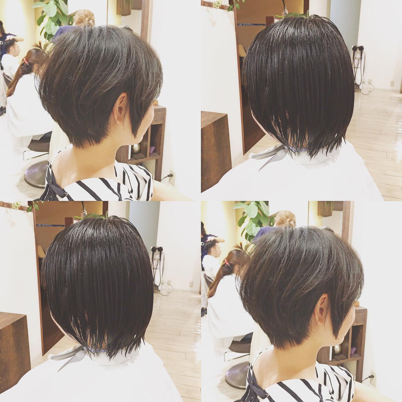 マッシュ ベリーショート ショート 黒髪 ヘアスタイルや髪型の写真・画像