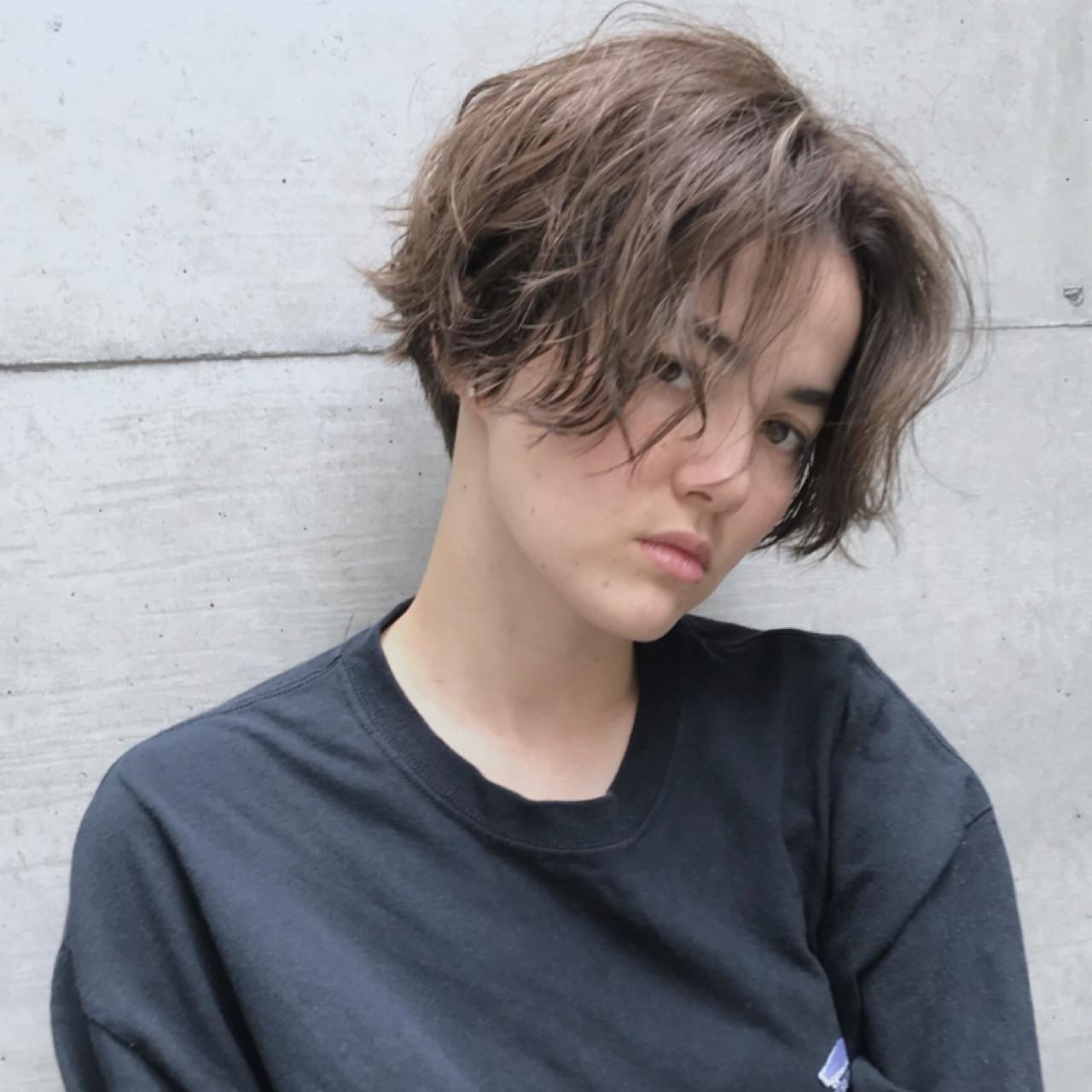 大人かわいい ストリート パーマ ボブ ヘアスタイルや髪型の写真・画像