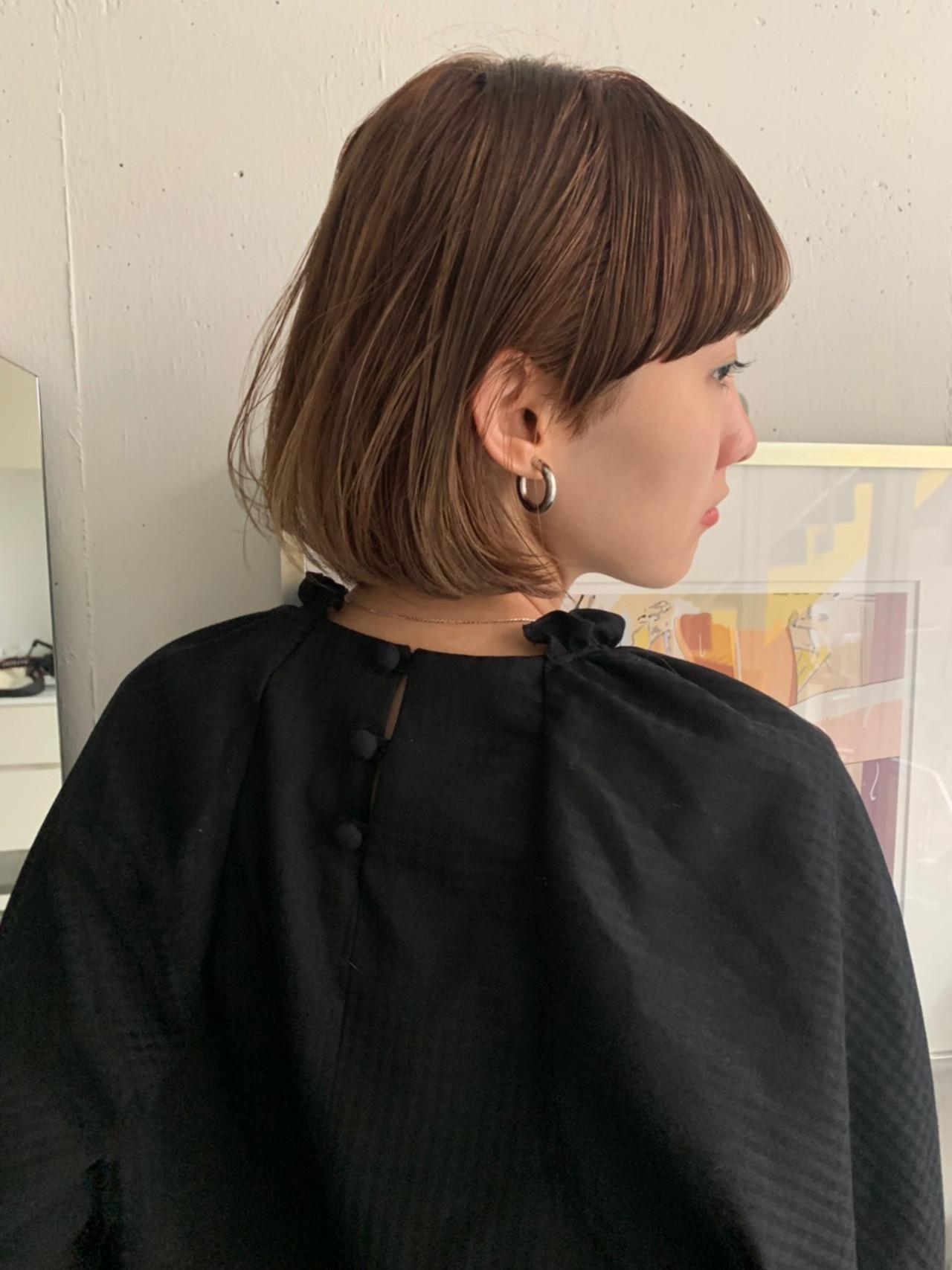 ベリーショート 切りっぱなしボブ ミニボブ ショートヘア ヘアスタイルや髪型の写真・画像